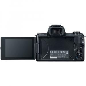 Canon EOS M50 + Canon 15-45mm IS negru EF-M 55-200mm f4.5-6.3 IS STM5