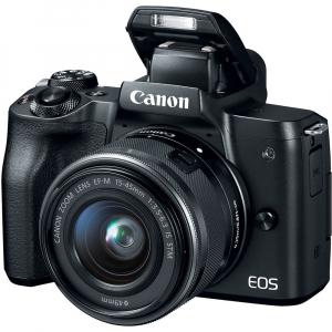 Canon EOS M50 + Canon 15-45mm IS negru EF-M 55-200mm f4.5-6.3 IS STM3