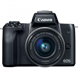 Canon EOS M50 + Canon 15-45mm IS negru EF-M 55-200mm f4.5-6.3 IS STM1