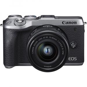 Canon EOS M6 Mark II Kit EF-M 15-45mm IS STM + vizor EVF-DC2- argintiu6