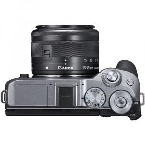 Canon EOS M6 Mark II Kit EF-M 15-45mm IS STM + vizor EVF-DC2- argintiu5