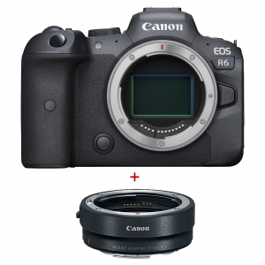 Canon EOS R6, Aparat Mirrorless Full Frame, 20Mpx, 4K - Kit cu Canon Inel Adaptor EF- EOS R0