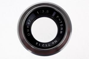 Dunar 75mm f/3.5 obiectiv pentru aparat de marit (S.H)1
