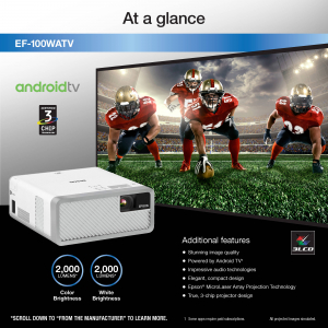 EPSON EF-100 Android TV Edition - Proiector Mini-Laser Streaming 3LCD cu Android [10]