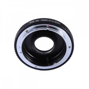 FIKAZ , adaptor cu lentila corectoare de la obiective montura Canon FD la body montura Canon EF2