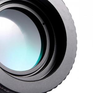FIKAZ , adaptor cu lentila de corectie de la obiective montura M42 la body montura Nikon F2