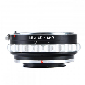 FIKAZ , adaptor de la obiective montura Nikon F (G)  la body montura Olympus / Panasonic Micro 4/3 (MFT) [0]