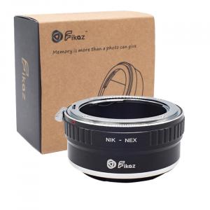 FIKAZ , adaptor de la obiective montura Nikon F la body montura Sony E (NEX)0