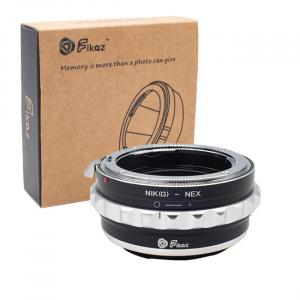 FIKAZ , adaptor de la obiective montura Nikon G la body montura Sony E ( NEX)0