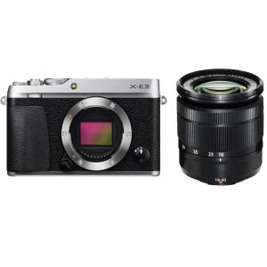 Fujifilm X-E3, Mirrorless 24MP, 4K, argintiu - Kit cu XC 16-50mm F3.5-5.6 OIS II Black [0]