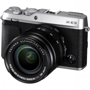 Fujifilm X-E3, Mirrorless 24MP, 4K body - argintiu + XF 18-55mm0