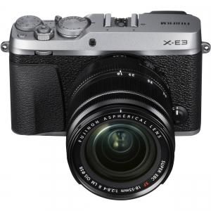 Fujifilm X-E3, Mirrorless 24MP, 4K body - argintiu + XF 18-55mm - RESIGILAT!!! [2]