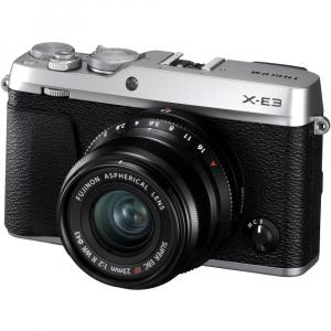 Fujifilm X-E3, Mirrorless 24MP, 4K + obiectiv XF 23mm f/2 R WR kit - argintiu [0]