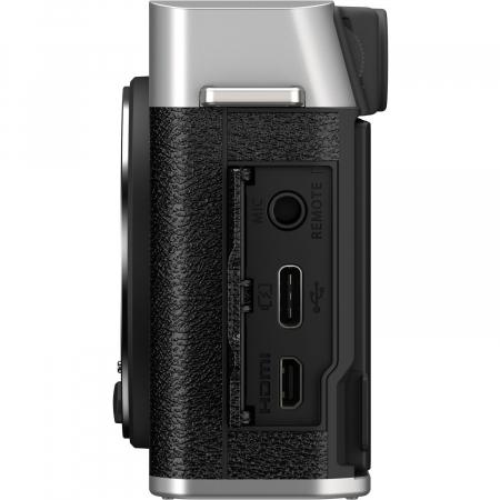 Fujifilm X-E4 , Mirrorless 26MP, 4K body - argintiu7