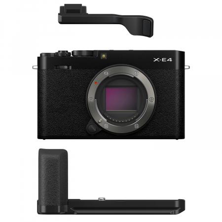 Fujifilm X-E4 , Mirrorless 26MP, 4K body + Grip MHG-XE4 + Thumb Rest TR-XE4 -negru [0]