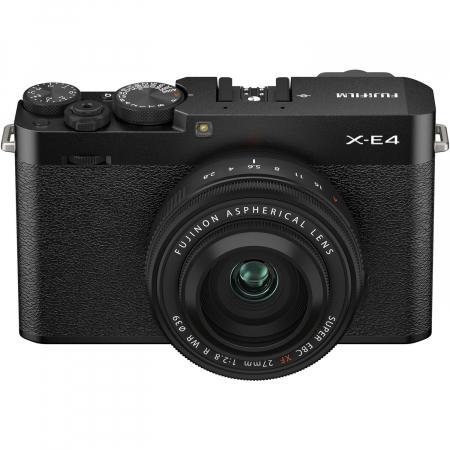 Fujifilm X-E4 , Mirrorless 26MP, 4K body - negru + XF 27mm F 2.8 R WR [1]