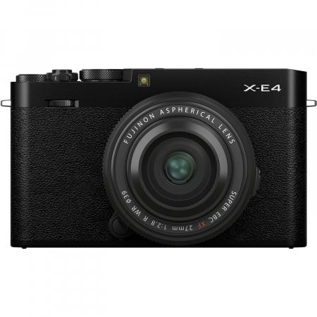 Fujifilm X-E4 , Mirrorless 26MP, 4K body - negru + XF 27mm F 2.8 R WR [0]