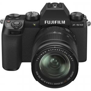 FUJIFILM X-S10 Mirrorless Digital Camera Kit cu Obiectiv XF 18-55mm Negru + Fujifilm 55-200mm F3.5-4.8 R LM OIS XF1