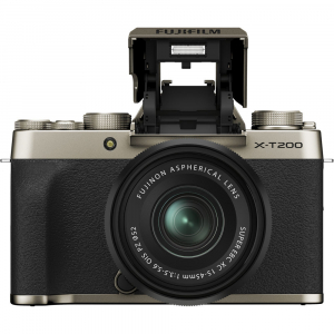 Fujifilm X-T200 Aparat Foto Mirrorless 24MP + XC 15-45mm f/3.5-5.6 OIS - Champagne Gold1