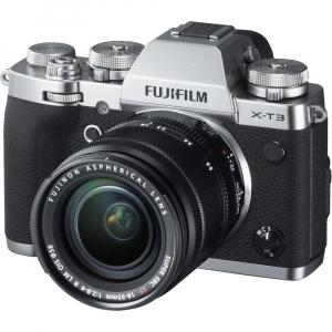 Fujifilm X-T3 Aparat Foto Mirrorless Kit XF18-55mm Senzor 26MP X-Trans 4K/60p Argintiu1