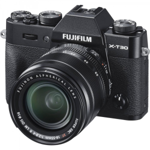 FUJIFILM X-T30 Mirrorless Kit + XF 18-55mm f/2.8-4 R LM OIS  -  Negru1