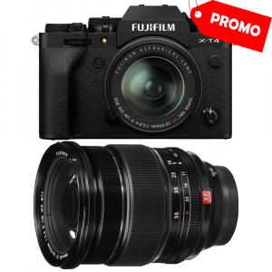 Fujifilm X-T4 Aparat Foto Mirrorless 26.1Mpx 4K/60fps X-Trans CMOS 4K KIT XF 18-55mm f/2.8-4 R LM OIS (black) si XF 16-55mm f/2.8 R LM WR0