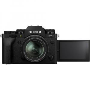 Fujifilm X-T4 Aparat Foto Mirrorless 26.1Mpx 4K/60fps X-Trans CMOS 4K KIT XF 18-55mm f/2.8-4 R LM OIS (black) si XF 16-55mm f/2.8 R LM WR5