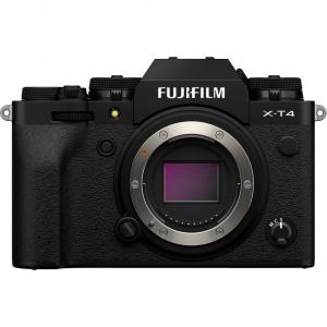 Fujifilm X-T4 Aparat Foto Mirrorless Body 26.1Mpx 4K/60fps X-Trans CMOS 4 (black) kit cu XF 16-55mm f/2.8 R LM WR1