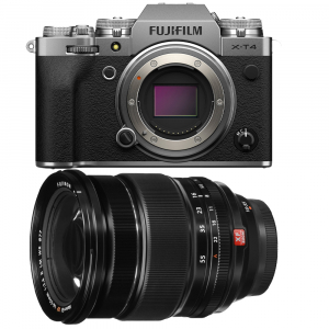 Fujifilm X-T4 Aparat Foto Mirrorless Body 26.1Mpx 4K/60fps X-Trans CMOS 4 (silver) kit cu XF 16-55mm f/2.8 R LM WR0