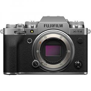 Fujifilm X-T4 Aparat Foto Mirrorless Body 26.1Mpx 4K/60fps X-Trans CMOS 4 (silver) kit cu XF 16-55mm f/2.8 R LM WR1