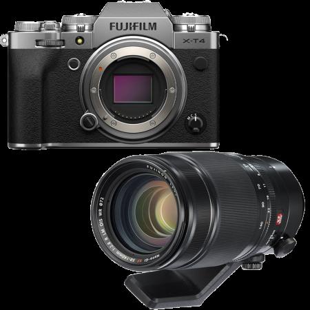 Fujifilm X-T4 Aparat Foto Mirrorless Body 26.1Mpx 4K/60fps X-Trans CMOS 4 (silver) kit cu XF 50-140mm f/2.8 R LM OIS WR0