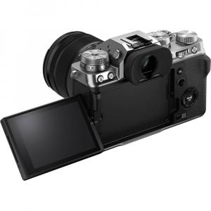 Fujifilm X-T4 Aparat Foto Mirrorless (silver) KIT  XF 18-55mm f/2.8-4 R LM OIS (black) si XF 16-55mm f/2.8 R LM WR8