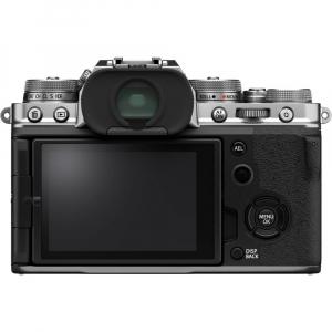 Fujifilm X-T4 Aparat Foto Mirrorless (silver) KIT  XF 18-55mm f/2.8-4 R LM OIS (black) si XF 16-55mm f/2.8 R LM WR3