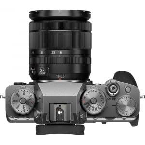 Fujifilm X-T4 Aparat Foto Mirrorless (silver) KIT  XF 18-55mm f/2.8-4 R LM OIS (black) si XF 16-55mm f/2.8 R LM WR5