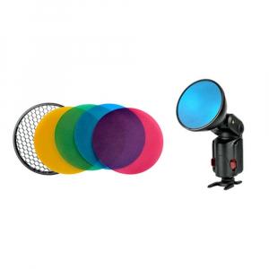 Godox AD-S11 Filtre Gel Colorate cu AD-S12 Grid Honeycomb pentru Bliturile Witstro AD180/AD360 [1]