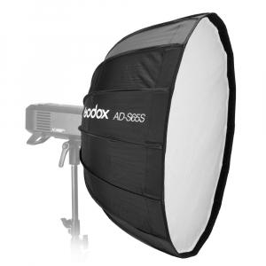 GODOX AD-S65W Softbox cu grid 65cm (AD400PRO) - Interior Alb0