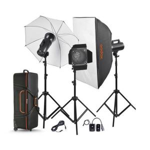 Godox GEMINI GS300II versiunea II, blitz studio kit 3X300Ws0
