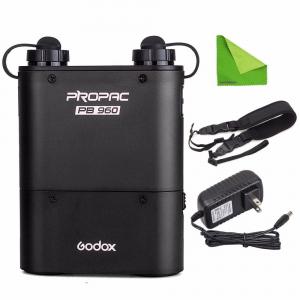 Godox PB960 4500mAh Battery Pack Dual pentru blitz-urile Hot Shoe - Nikon, Canon, Sony, Metz, Godox. [1]
