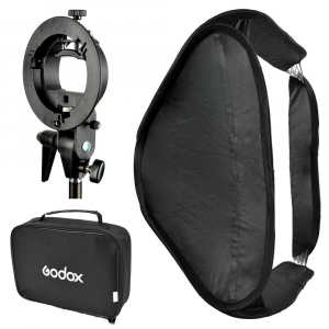 Godox SFUV5050 Softbox 50x50 cm cu Bracket S-type , softbox universal0