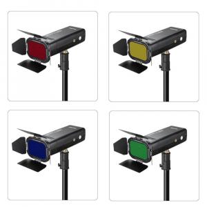 Godox Speedlite Color BD-07 - Grid cu voleti si filtre pentru AD2004