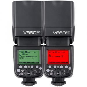 Godox Ving V860C II kit blitz 2.4G Wireless E-TTL pentru Canon, numar director 607