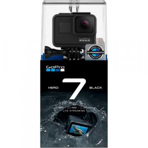 GoPro Hero 7 Black - Comenzi vocale, Stabilizare video, Wi-Fi, GPS, Rezistent la apa, 4k60/1080p2405