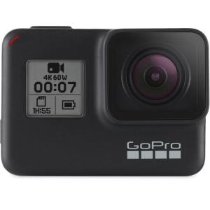 GoPro Hero 7 Black - Comenzi vocale, Stabilizare video, Wi-Fi, GPS, Rezistent la apa, 4k60/1080p2400
