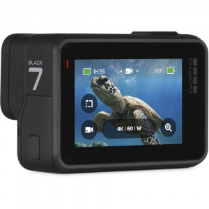 GoPro Hero 7 Black - Special Bundle Kit, Rezistent la apa, 4k60/1080p2405