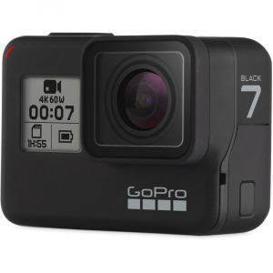 GoPro Hero 7 Black - Special Bundle Kit, Rezistent la apa, 4k60/1080p2404