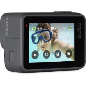 GoPro Hero 7 Silver - Comenzi vocale, Stabilizare video, GPS, Rezistent la apa, 4k30/1080p602
