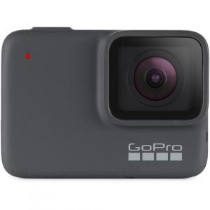 GoPro Hero 7 Silver - Comenzi vocale, Stabilizare video, GPS, Rezistent la apa, 4k30/1080p600