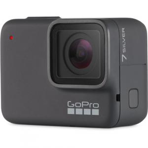 GoPro Hero 7 Silver - Comenzi vocale, Stabilizare video, GPS, Rezistent la apa, 4k30/1080p601