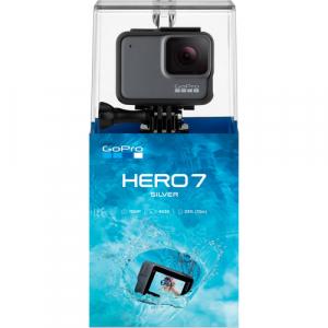 GoPro Hero 7 Silver - Comenzi vocale, Stabilizare video, GPS, Rezistent la apa, 4k30/1080p605