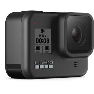 GoPro Hero 8 Black - Comenzi vocale, Stabilizare video, Wi-Fi, GPS, Rezistent la apa, 4k60/1080p2402
